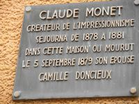 Monet plaque