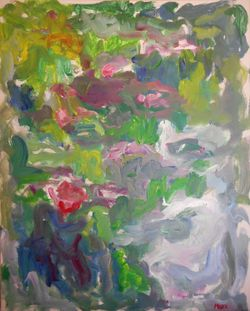 Susan Marx, Giverny, Water Lilies, 052815, 30x24, acrylic on canvas