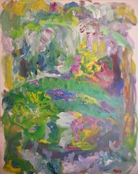 Susan Marx, Giverny, The Japanese Bridge with Wisteria, 052915, 30x24, acrylic on canvas